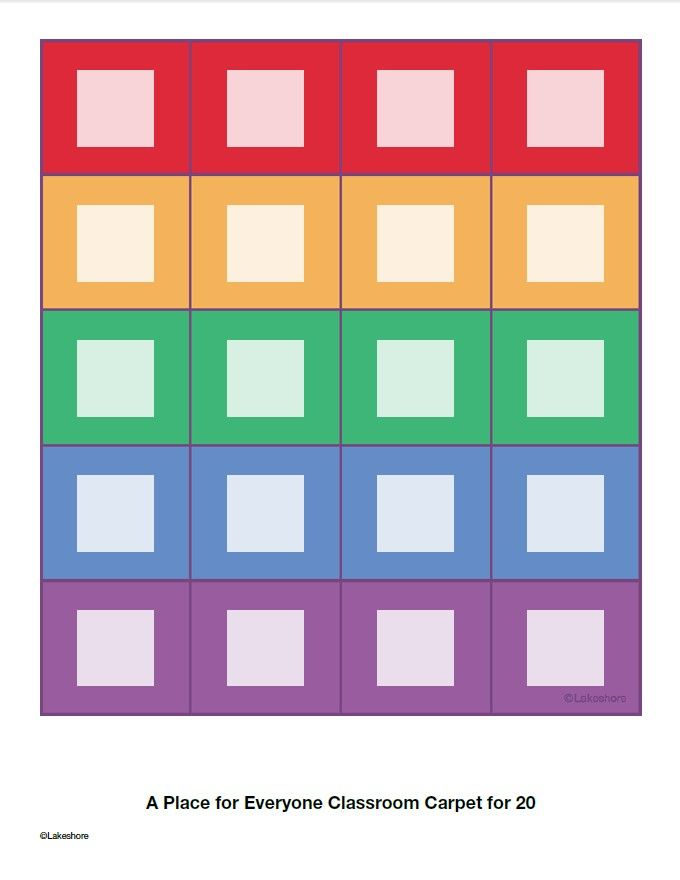 Seating Chart For Lakeshore S A Place For Everyone Classroom Carpet For 20 Click On Pin To Edit And Ad Classroom Seating Charts Classroom Management Preschool