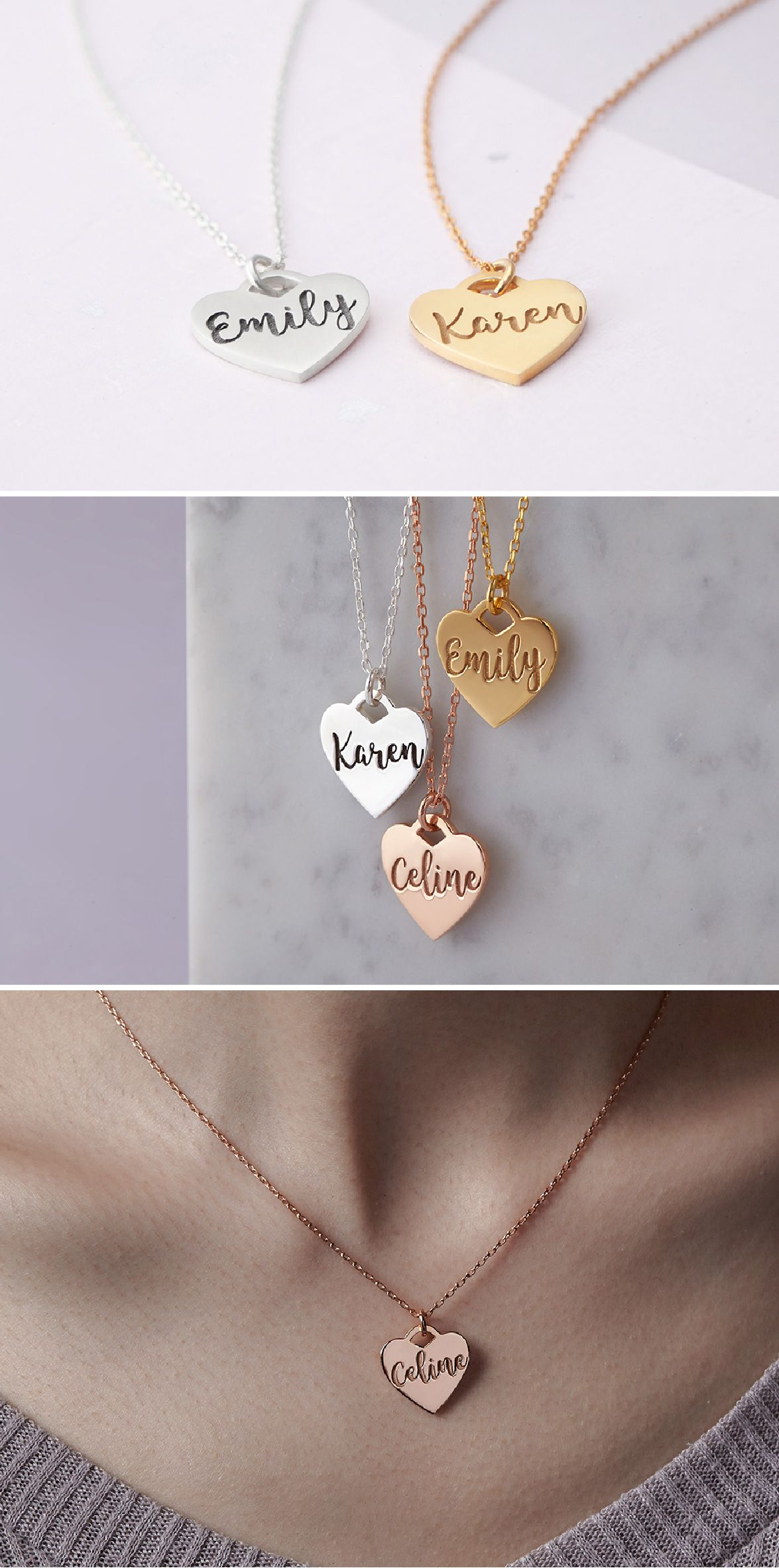 f807d6310 Personalized Cursive Name Necklace • Custom Name Necklace Silver • Engraved  Heart Name Necklace • Gold Necklace With Name • Personalized Name Necklace  Gold ...