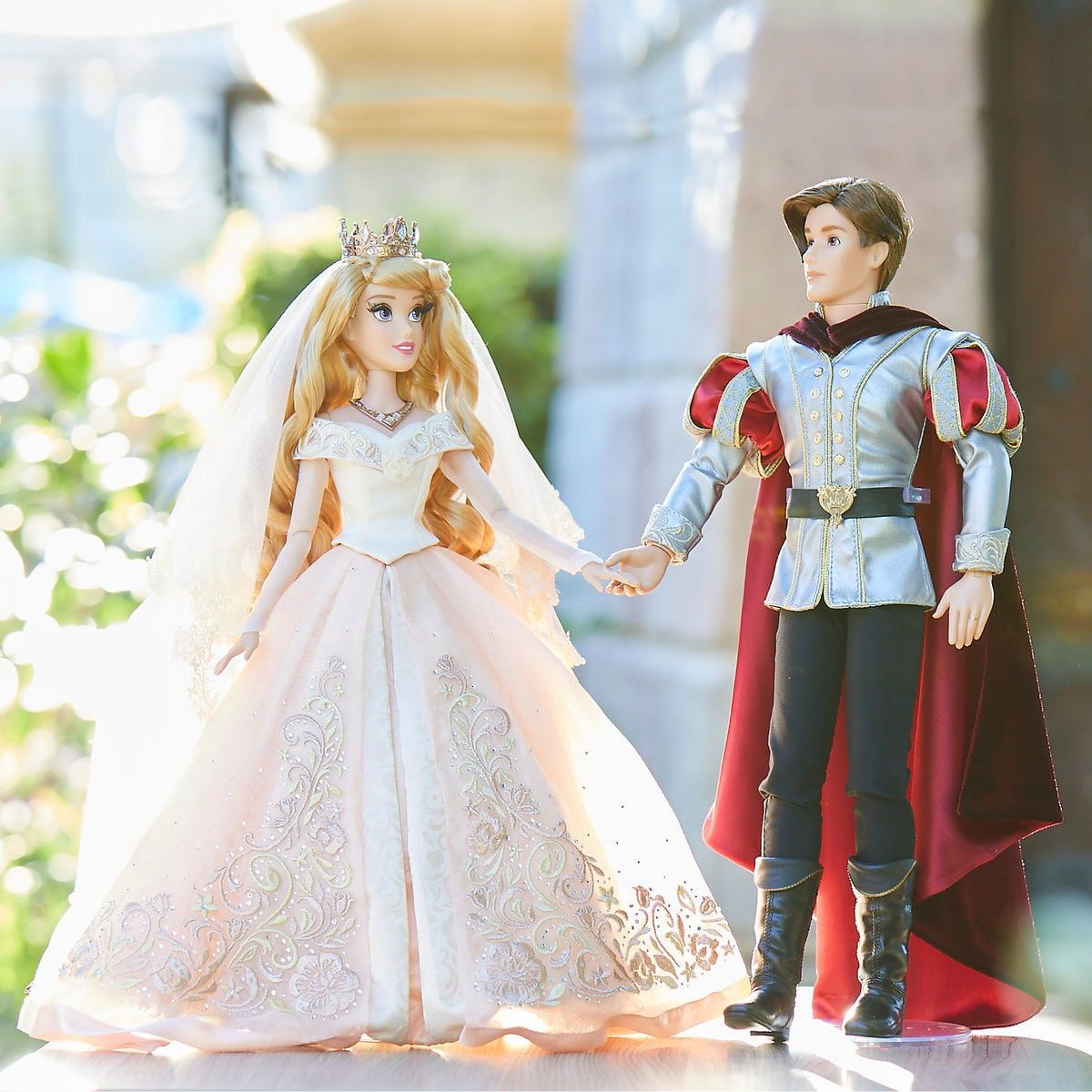 Aurora And Prince Phillip Limited Edition Wedding Doll Set Sleeping Beauty 60th Anniversary 17 Disney Princess Dresses Wedding Doll Disney Barbie Dolls