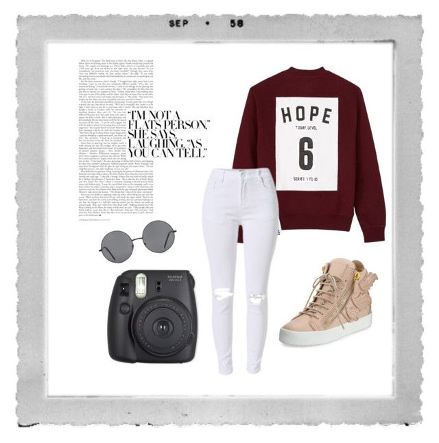 """Fall Outfit"" by carleelingard on Polyvore featuring Polaroid, Studio Concrete, Giuseppe Zanotti, Forever 21 and Fuji"