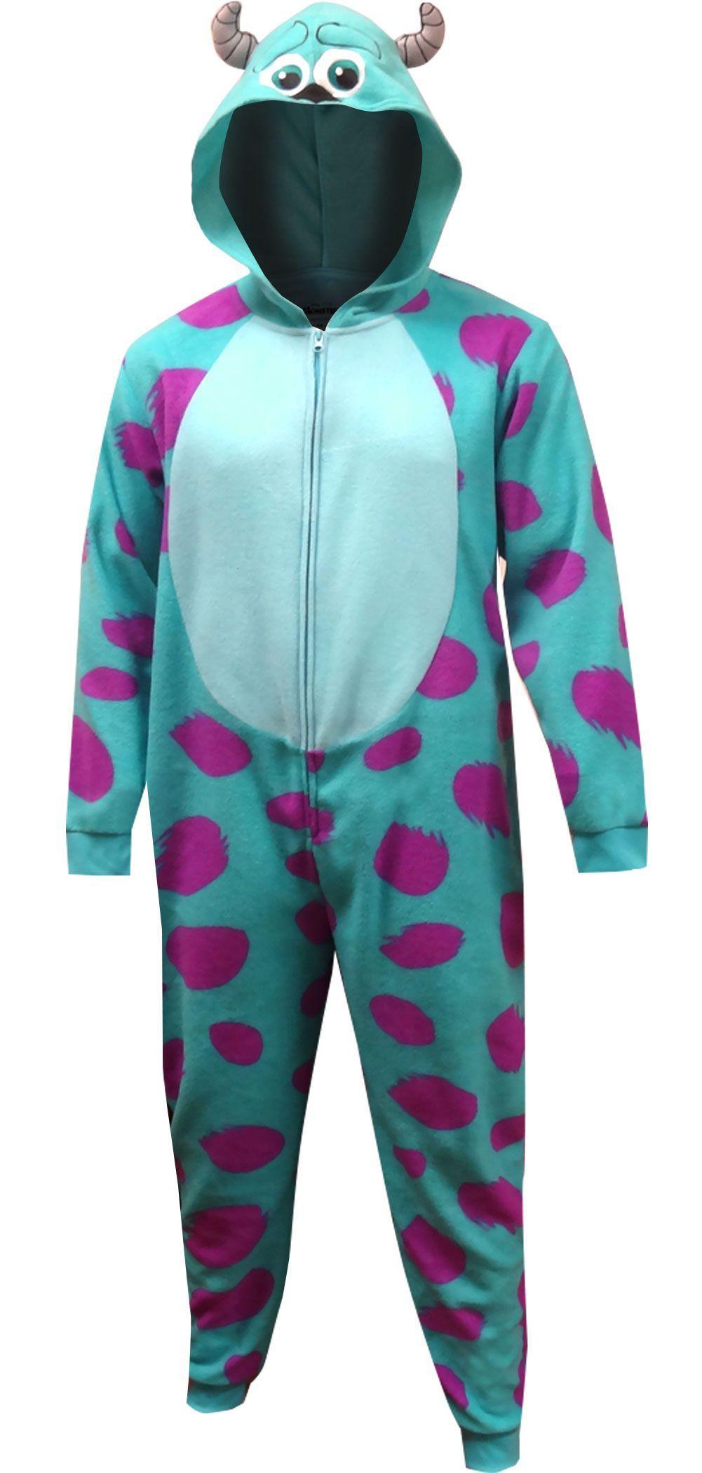 d4890ce30c41 WebUndies.com Disney Pixar Monsters Inc Sulley One Piece Hooded Pajama