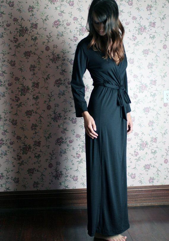 merino wool robe for women in full length by sandmaidensleepwear ... 79bce1645