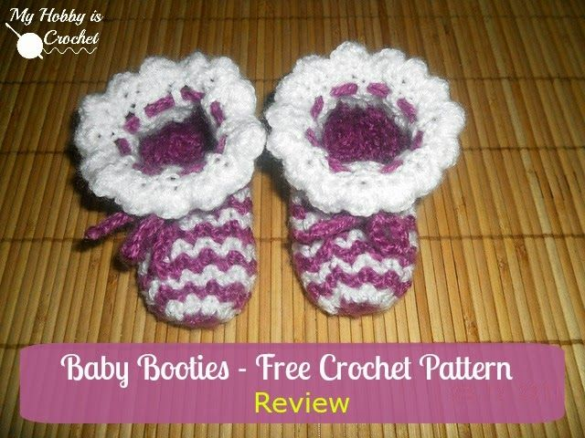 Zick - Zack Baby Booties | A Free Pattern Review by My Hobby is ...