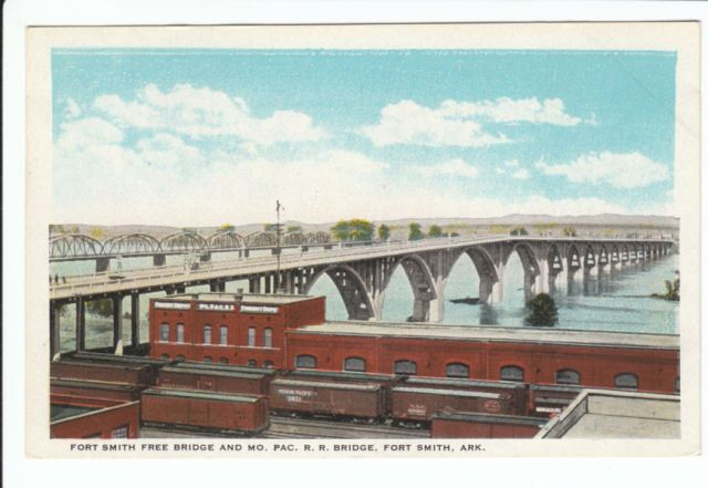 Missouri Pacific Railroad Bridge ft Fort Smith Arkansas AR Old Postcard MPRR | eBay