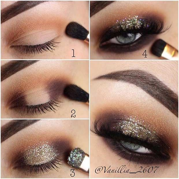 Party Step by Step Makeup Tutorial for Eyes #BeginnerMakeupForBlackWomen