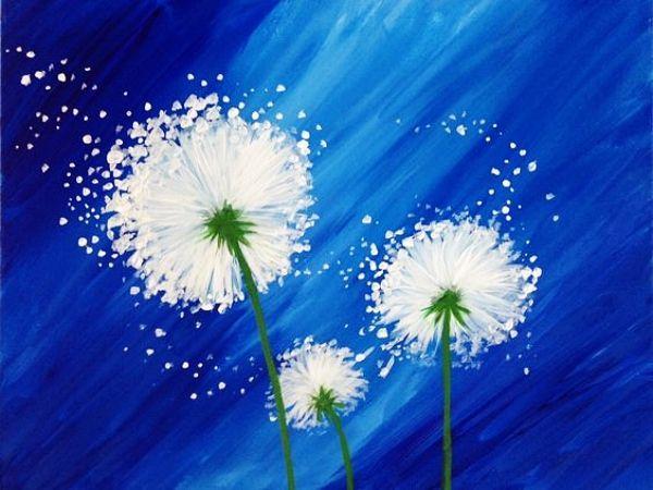55 idéias fáceis de pintura acrílica sobre tela
