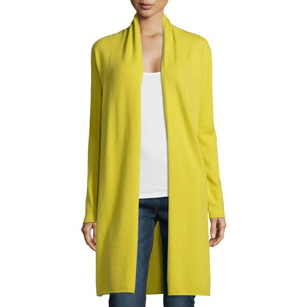 Neiman Marcus Cashmere Collection Long Cashmere Duster Cardigan ...