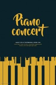 Piano Concert Flyer Template  Wcm    Flyer Template