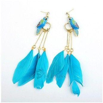 Ethnic Style Women's Alloy Feather Shaped Drop Earrings