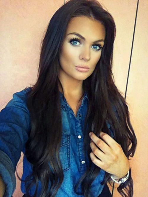 Gorgeous Long Dark Brunette Hair Makeup Dark Brunette