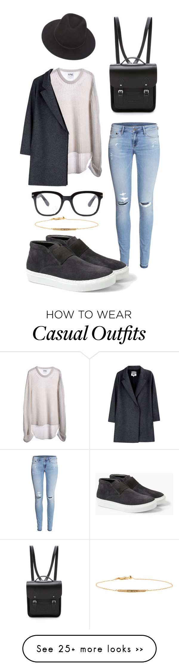 """Casual Saturday"" by nudge-v on Polyvore featuring mode, Forever 21, Brixton, Monica Vinader, One Teaspoon, H&M, MM6 Maison Margiela, The Cambridge Satchel Company en MANGO"
