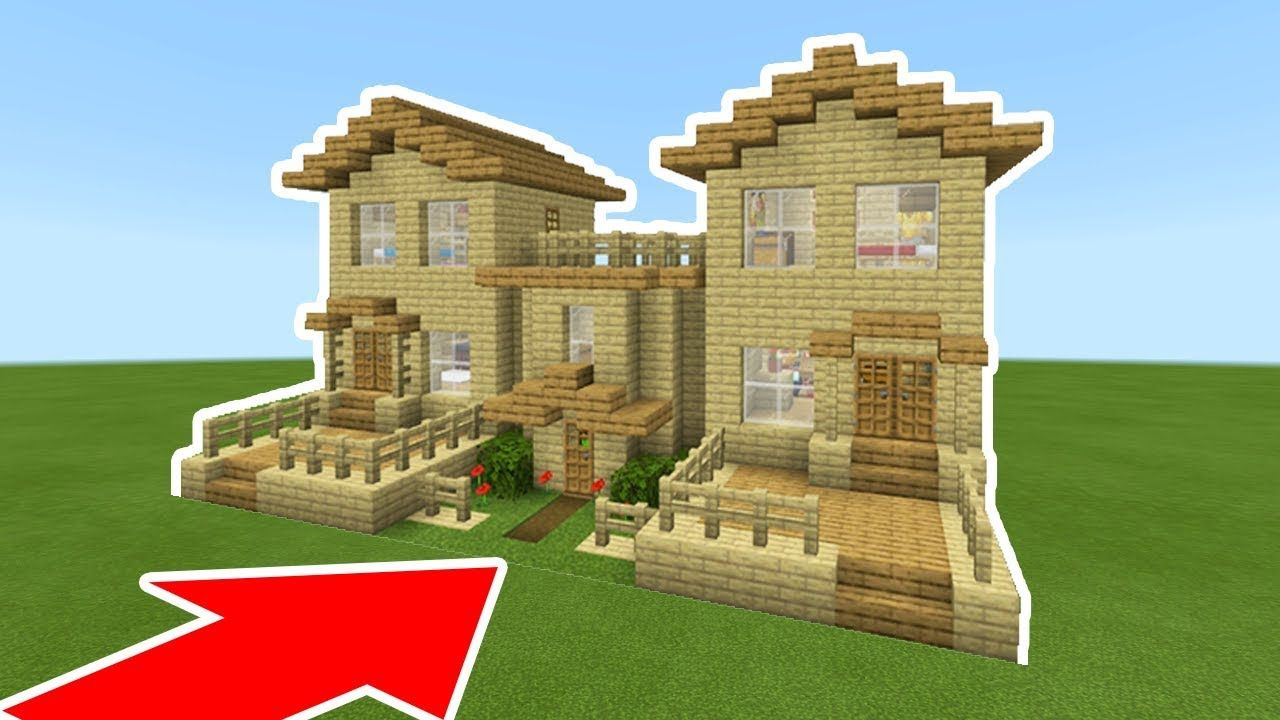 Minecraft Tutorial How To Make The Ultimate Wooden Starter House With A Hidden Secret Youtube Minecraft Tutorial Starter Home Minecraft