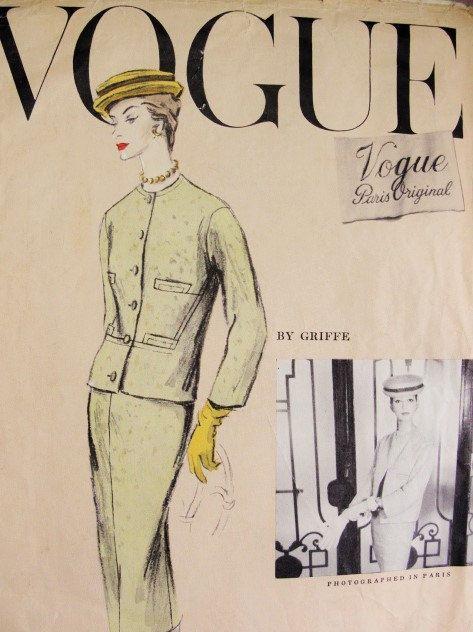 50s Classy 3 Pc Suit Griffe Pattern Vogue Paris by SoVintageOnEtsy