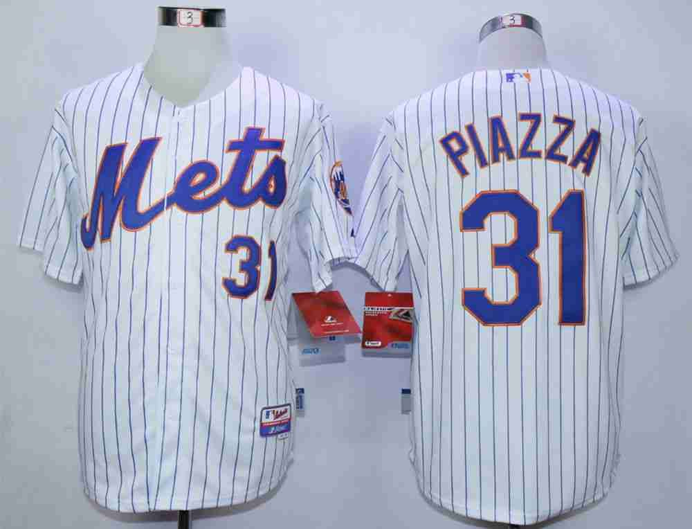 men s new york mets 31 mike piazza white cool base jersey sports rh pinterest com