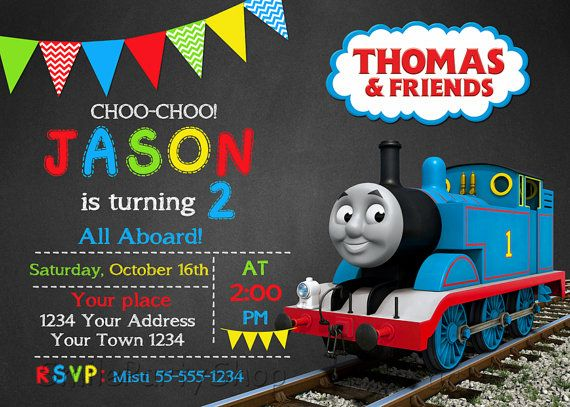 Thomas The Train Invitation By SmileParty On Etsy Birthday Party Cake