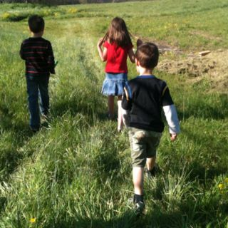 Take an A to Z Backyard scavenger hunt in your yard or even at a local park.