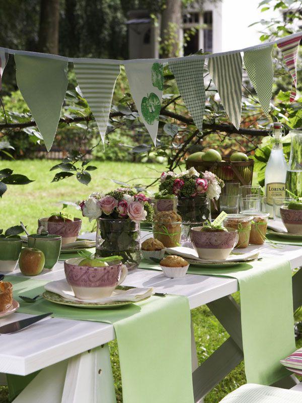 Apfelfest im Garten herbstfest Pinterest Gärten, Gartenparty