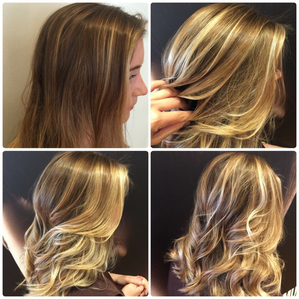 Balayage Soft Ombr Beachy Blonde Hawaiian Surfer Girl Before And