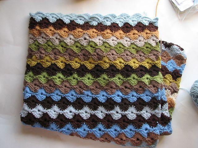 Ravelry: patrón Star Shell Afghan de Janet Jarosh   mantas crochet ...