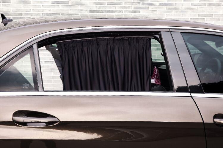 Black adjustable vip car window curtain uv sunshade visor