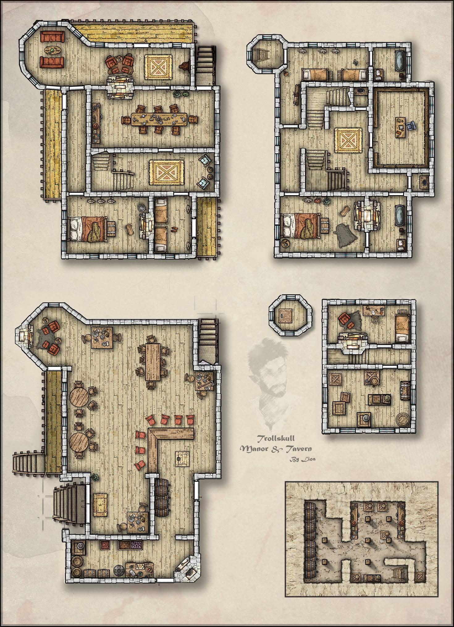 Manor House - Fantastic Maps