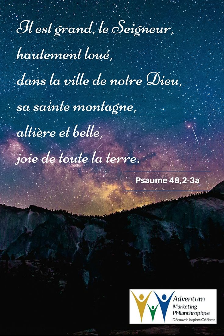 12 juillet 2016 – Psaume 48,2-3a | Lockscreen, Lockscreen screenshot