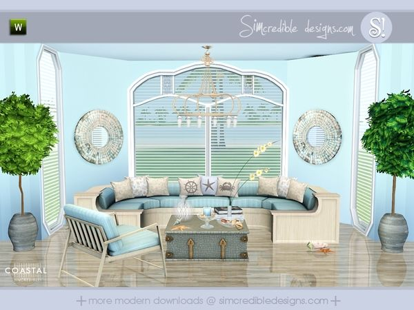 Coastal Beachy Modern Set By SIMcredibledesigns   Sims 3 Downloads CC  Caboodle Part 68