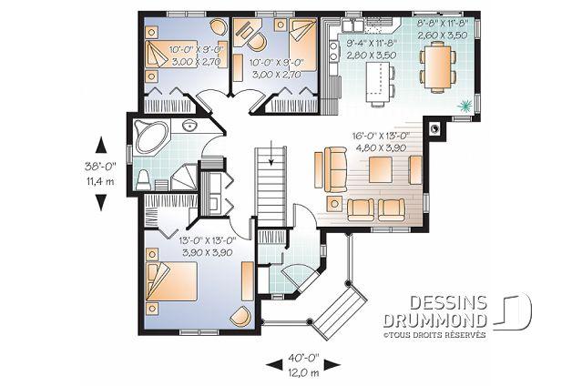 Plan de maison unifamiliale Mainville No 3133 Maison Pinterest