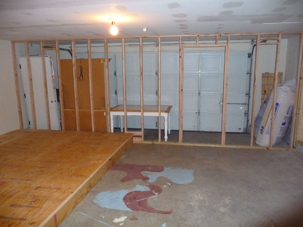 converting garage to office. Media Room - Garage Conversion; Keep Door For Converting Back Later.** To Office .