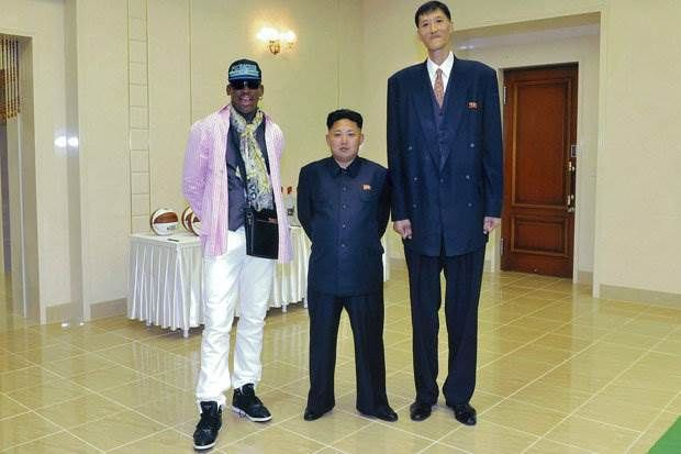 Kim Jung Un, Dennis Rodman and the tallest man in North Korea