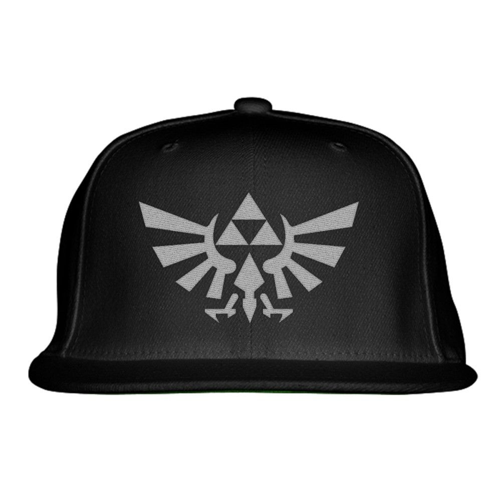 Zelda Triforce Symbol Embroidered Snapback Hat Zelda Snapback