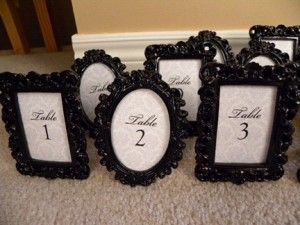 Vintage Frames Wedding Decor Seating Chart Table Number Cards Family Photos 6