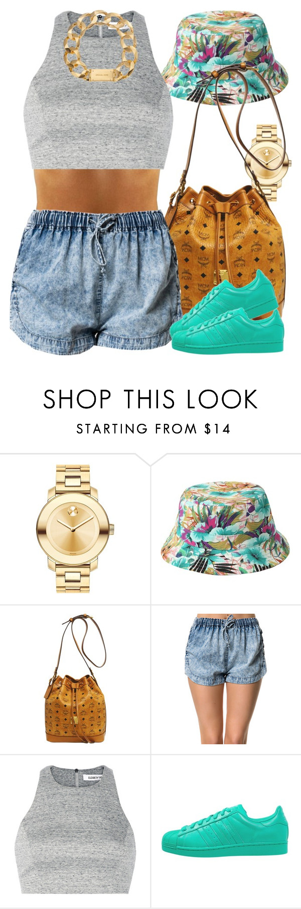 """""""Will the super colors ever come back in stock?"""" by livelifefreelyy ❤ liked on Polyvore featuring Movado, MCM, Pistola, Elizabeth and James, adidas Originals and Michael Kors"""