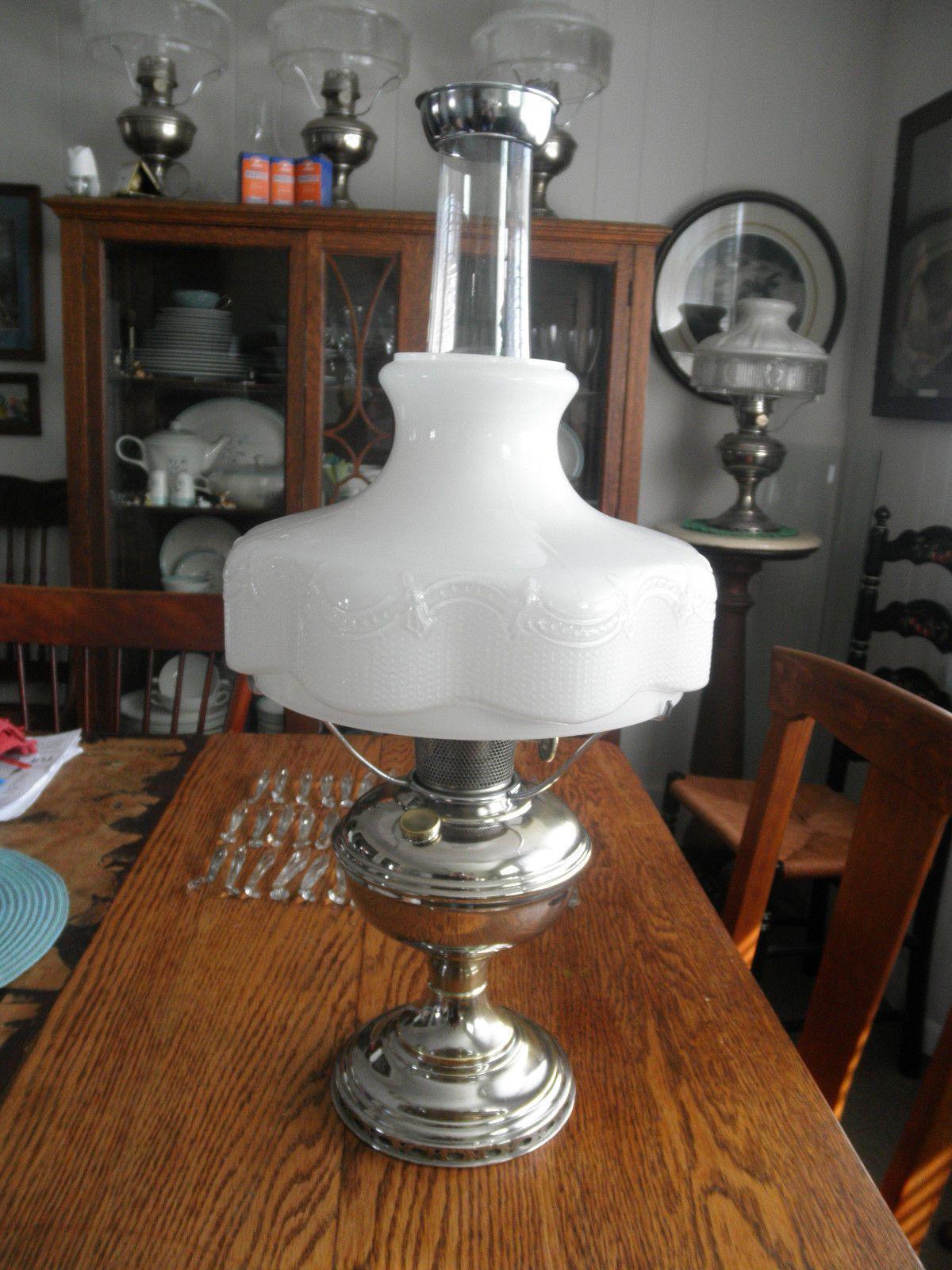 Aladdin Oil Lamp Model 11 Complete Incl 201 Shade Screen Chimney Mantle Ebay Aladdin Lamp Shade Screen Lamp