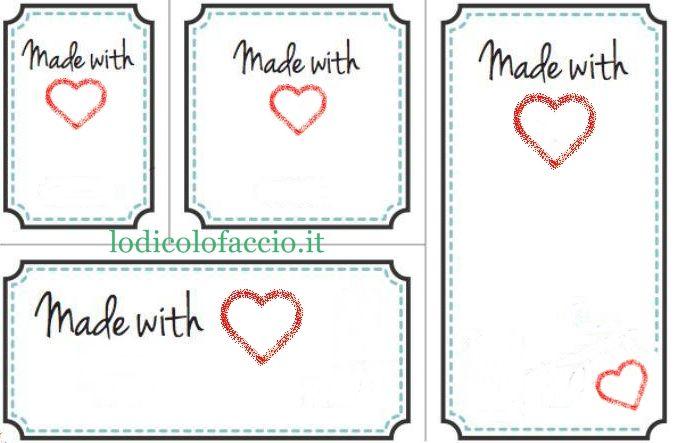 Blog Di Cucito Creativo Etichette Stampabili Gratis Etichette
