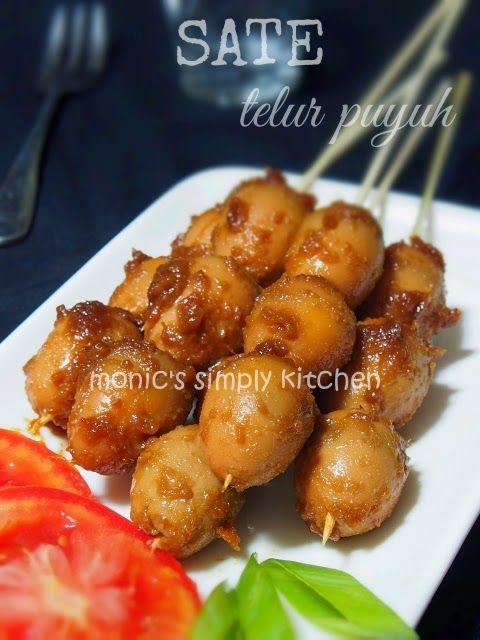 Resep Sate Telur Puyuh : resep, telur, puyuh, Telur, Puyuh, Monic's, Simply, Kitchen, Resep, Masakan, Indonesia,, Masakan,