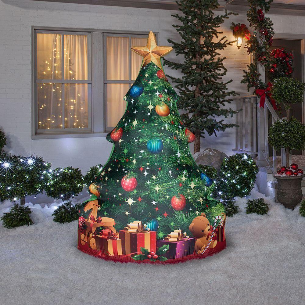 "84"" GEMMY SANTA CHRISTMAS TREE & PRESENTS AIRBL"