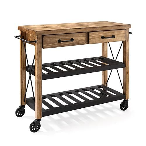 Crosley Roots Rack Industrial Kitchen Cart: Crosley Roots Rack Industrial Kitchen Cart