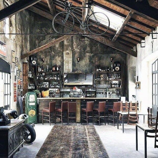 Top 50 Best Garage Bar Ideas Cool Cantina Workshop Designs Garage Design Industrial House Industrial Interiors