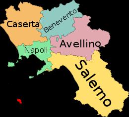La Cartina Geografica Della Campania.Campania Mappa Dell Italia Bimby Geografia