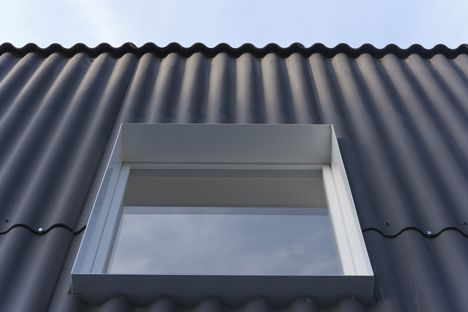 Private House Bellmund By Exh Design In 2020 House Cladding Corrugated Roofing Metal Cladding