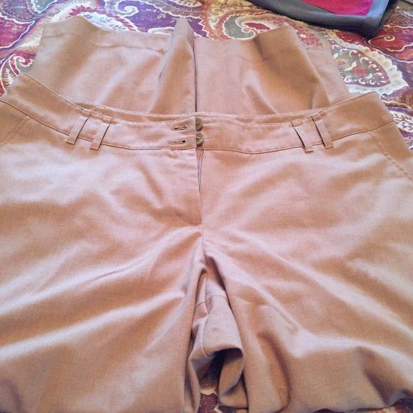 Lane Bryant khaki pants Size 18. Reposh they were too big on me. Good condition. Lane Bryant Pants Trousers
