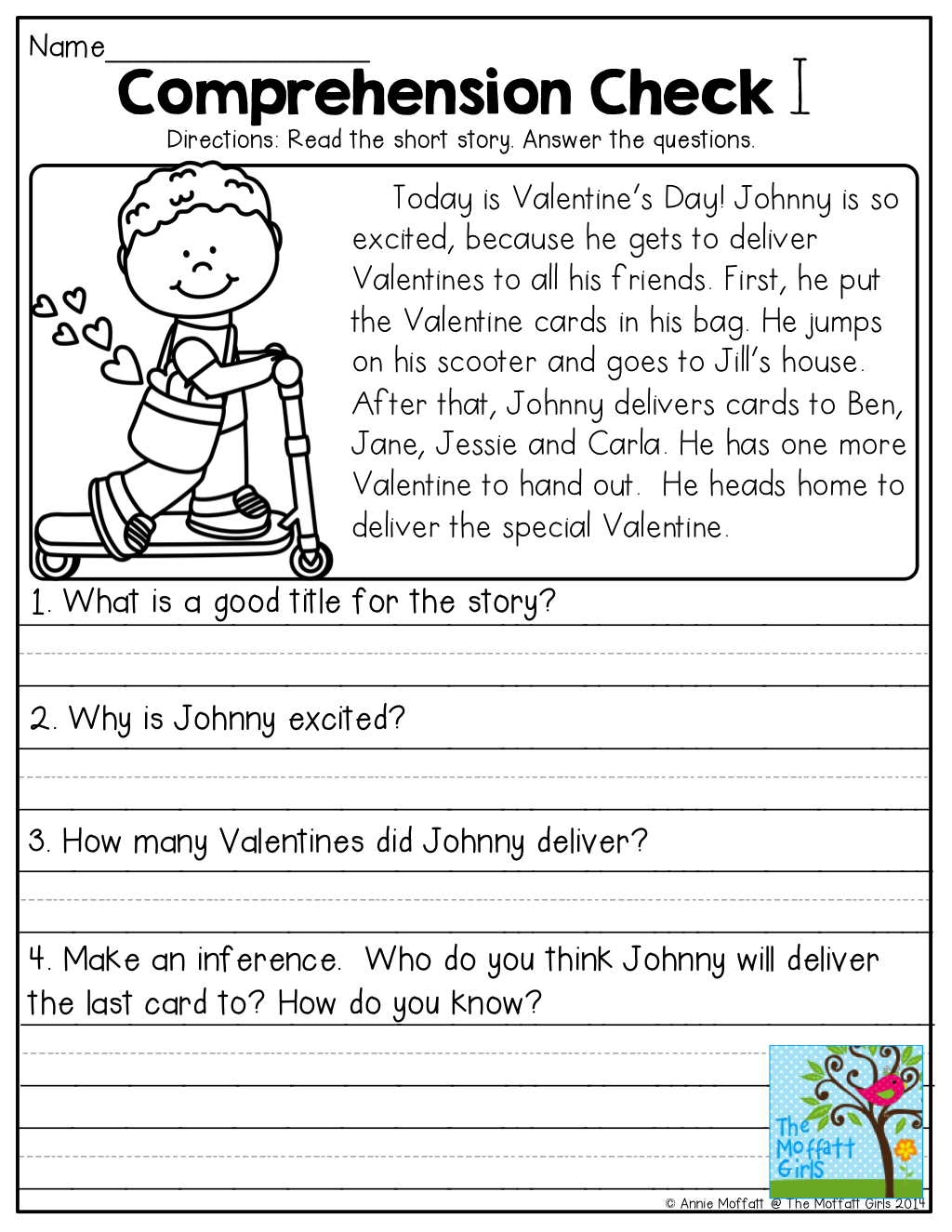 Comprehension Check and TONS of other great printables!