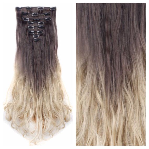 Dark Brown Ash Blonde Ombre Hair Extensions By Onesixtyaccessories