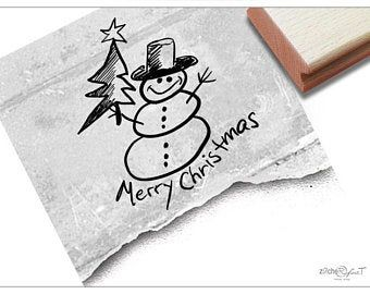 Stamp Christmas stamp Merry Christmas with trees-text stamps for Christmas, cards, gift tags, gift, christmas decoration