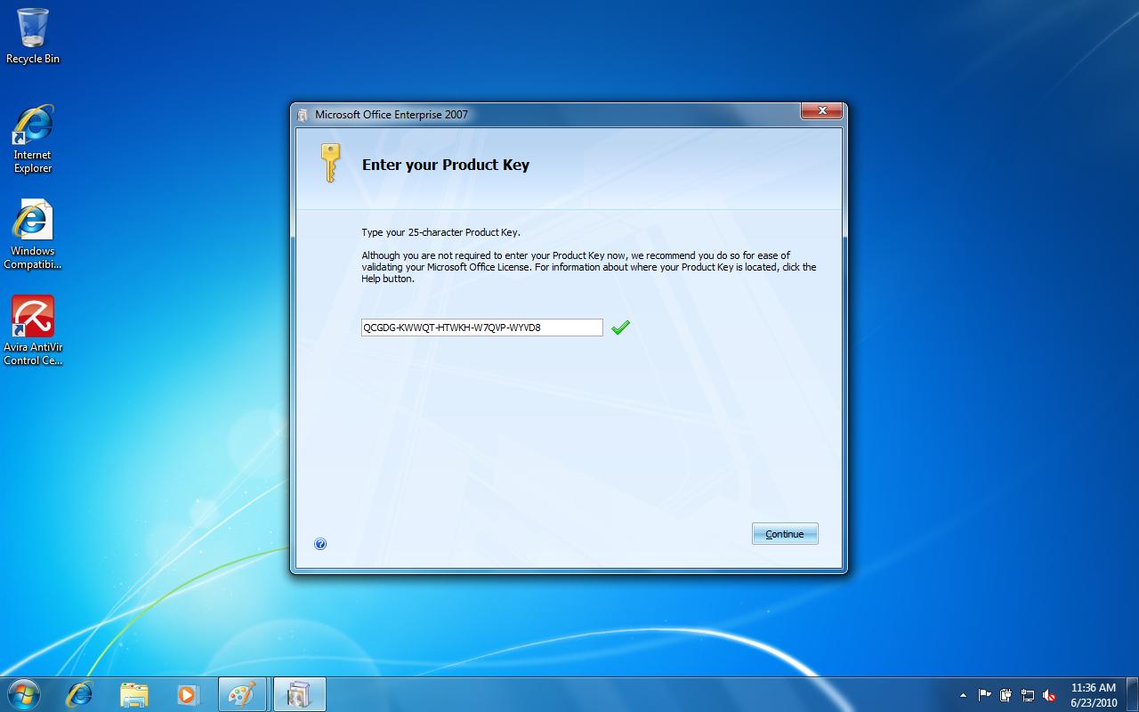 microsoft office 2007 enterprise edition product key
