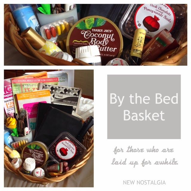 A By The Bed Basket A Great Gift Idea For Someone Who Is Sick Get Well Gift Baskets Get Well Baskets Get Well Gifts