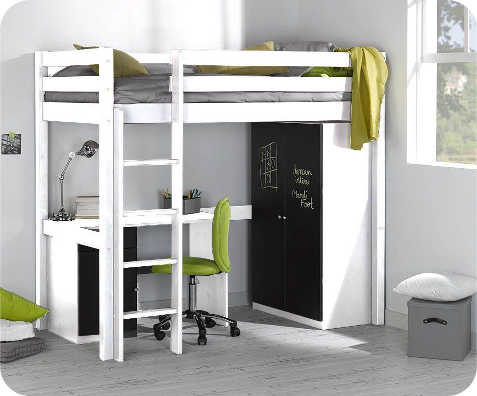 """Résultat de recherche d images pour """"lit mezzanine avec bureau et"""