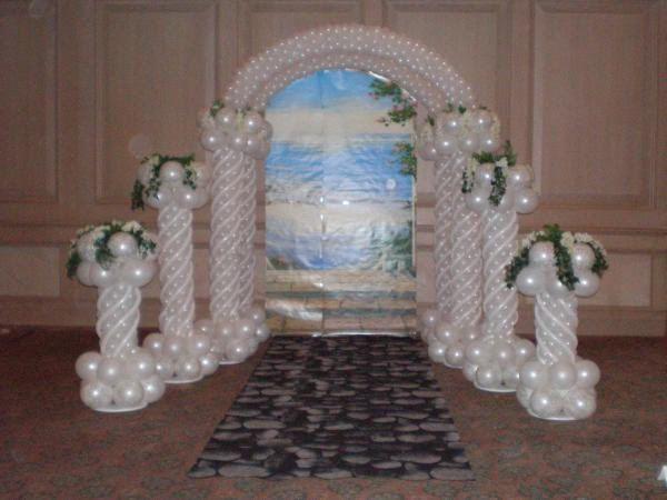 Como Hacer Un Arcos De Globos Para Bodas Imagui Mi Boda En 2018 - Adornos-con-globos-para-bodas