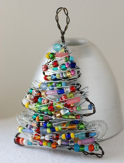 Christmas Tree Ornament Beaded Decoration Or Lightcatcher Kerst